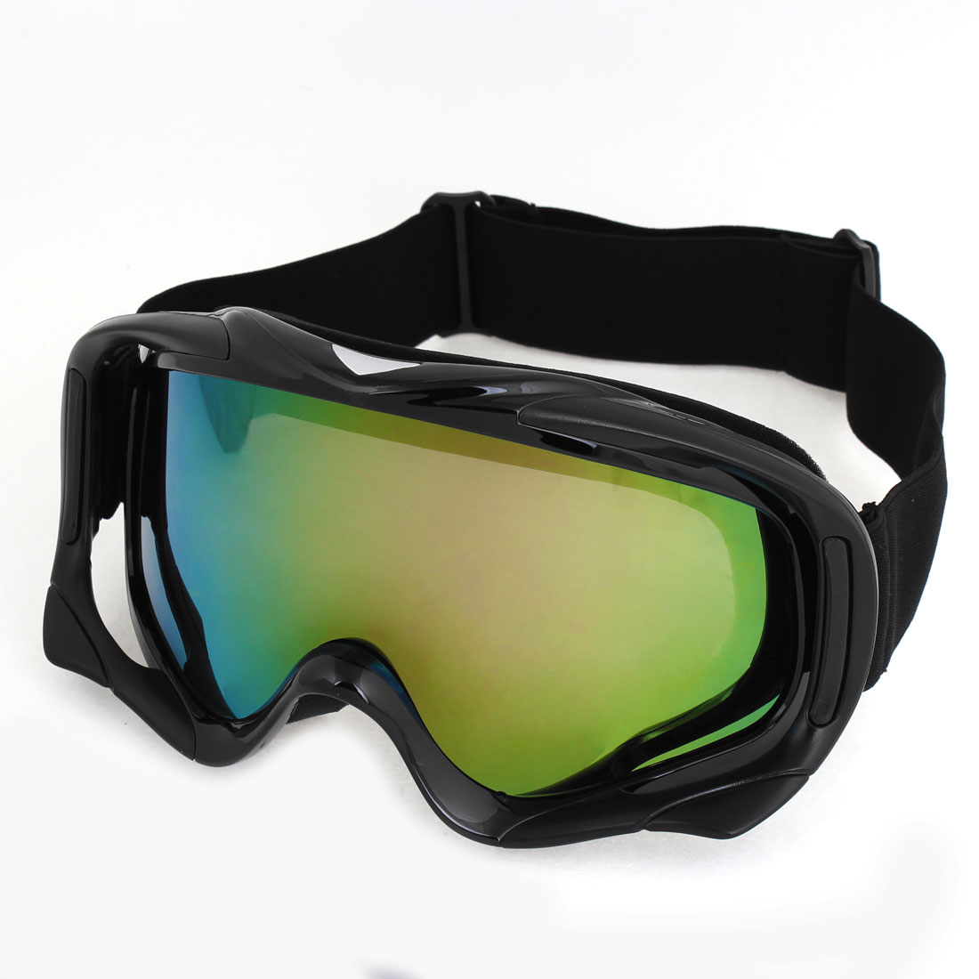 Outdoor Sports Colored Lens Black Full Rim Ski Goggles for Men Woman by Unique-Bargains