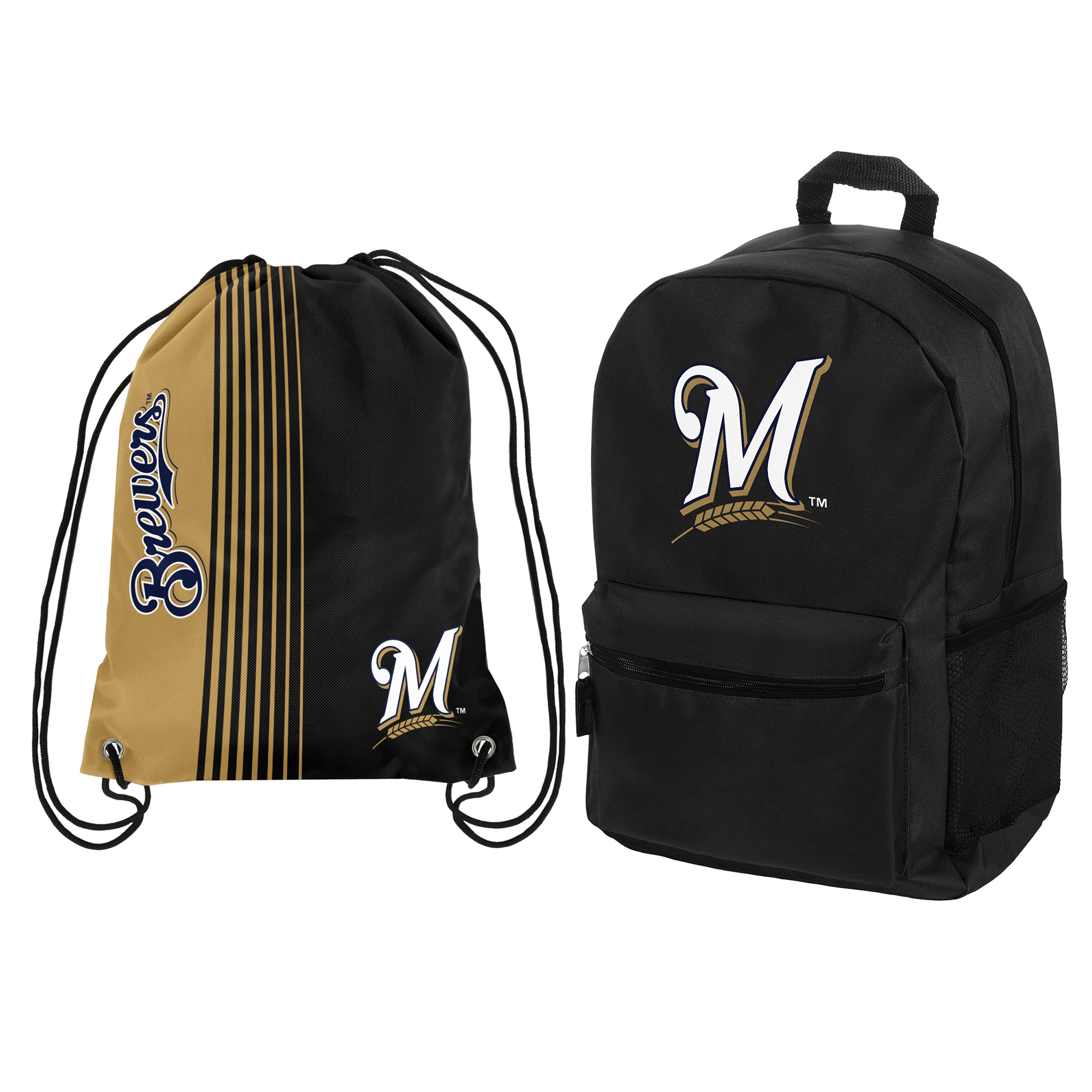 Milwaukee Brewers Backpack & Drawstring Bag Combo Pack - No Size