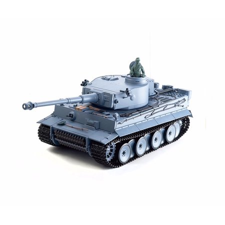 2.4Ghz Radio Remote Control 1/16 German Tiger I RC Airsoft Battle Tank w/Sound & Smoke R/C RTR (Remote Control German Submarine)