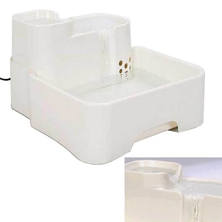 Zimtown Pet Fountain Watering Drink Bowl Dog Cat Automatic Water Dispenser