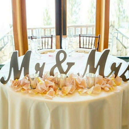 Mr and Mrs Sign - Wedding Decoration Wedding Present Silver - MR MRS Wooden Letters Valentine's Day Decoration - Labor Day Decorations Ideas