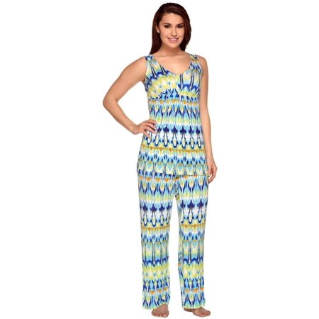 Carole Hochman Abstract Ikat Knit Jersey 2-Pc Pajama Set A262421