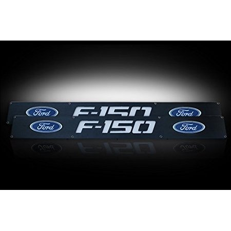Ford 09-14 F150 Billet Aluminum Door Sill / Kick Plate (2Pc Kit Fits Driver And Front Passenger Side Doors Only) In Blac Sill Plate Drivers