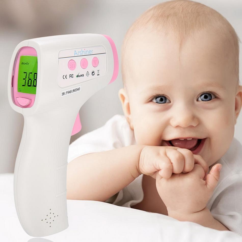 Metene Digital Infrared Non-Contact Forehead Thermometer. Suitable for Baby, Toddlers and Adults And Object with Instant Results