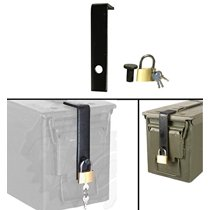 Ultimate Arms Gear Mil Spec Ammo Can Steel Safe Lock Fits 60mm 40mm 20mm 50 Cal And 30 Cal Box Cans 3pc Hardware Kit System Includes L Shaped Bracket Hinge Bolt Lock With
