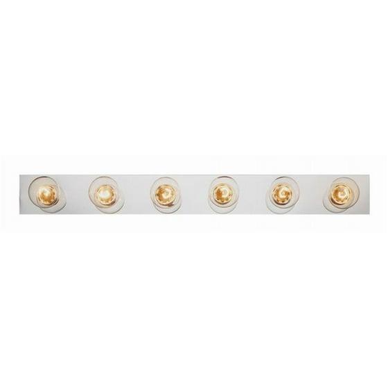 Trans Global Lighting 3006 Pb 6 Light Vanity Strip Polished Brass