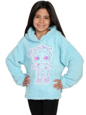 L.O.L. Surprise! Plush Pullover Hooded Sweatshirt Turquoise (Big Girls)