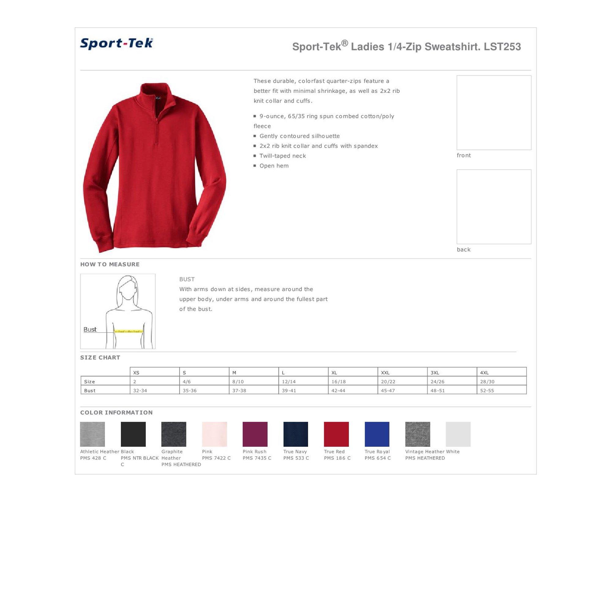 Sport Tek Sport Tek Lst253 Ladies 1 4 Zip Sweatshirt Pink Rush Xl Walmart Com Walmart Com Lst253 and other active sweatshirts at amazon.com. walmart