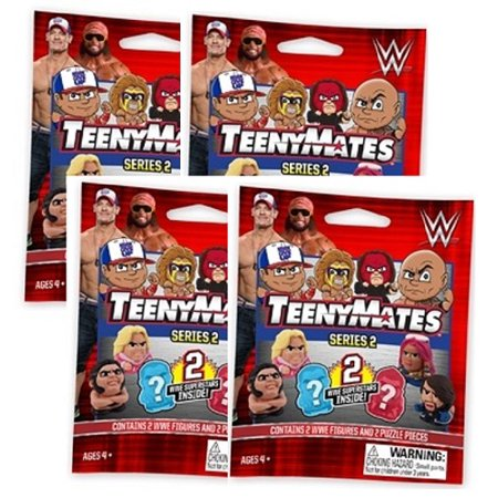 TeenyMates WWE Series 2 Mini-Figures 4-pack ()