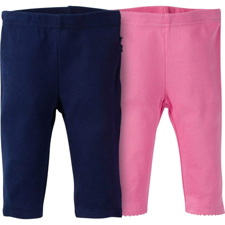 Gerber Newborn Baby Girl Slim Fit Pant with Rump Ruffle, (Newborn Baby Girl Ruffle Diaper)