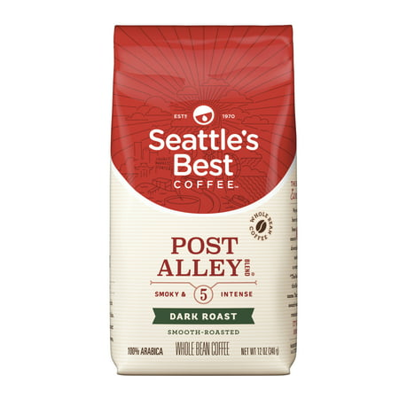 - Seattle's Best Coffee Signature Blend No. 5 Dark Roast Whole Bean Coffee, 12-Ounce Bag