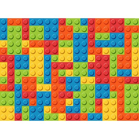 Lego Base Colors Building Block Edible Cake Topper Frosting 1 4 Sheet Birthday Party