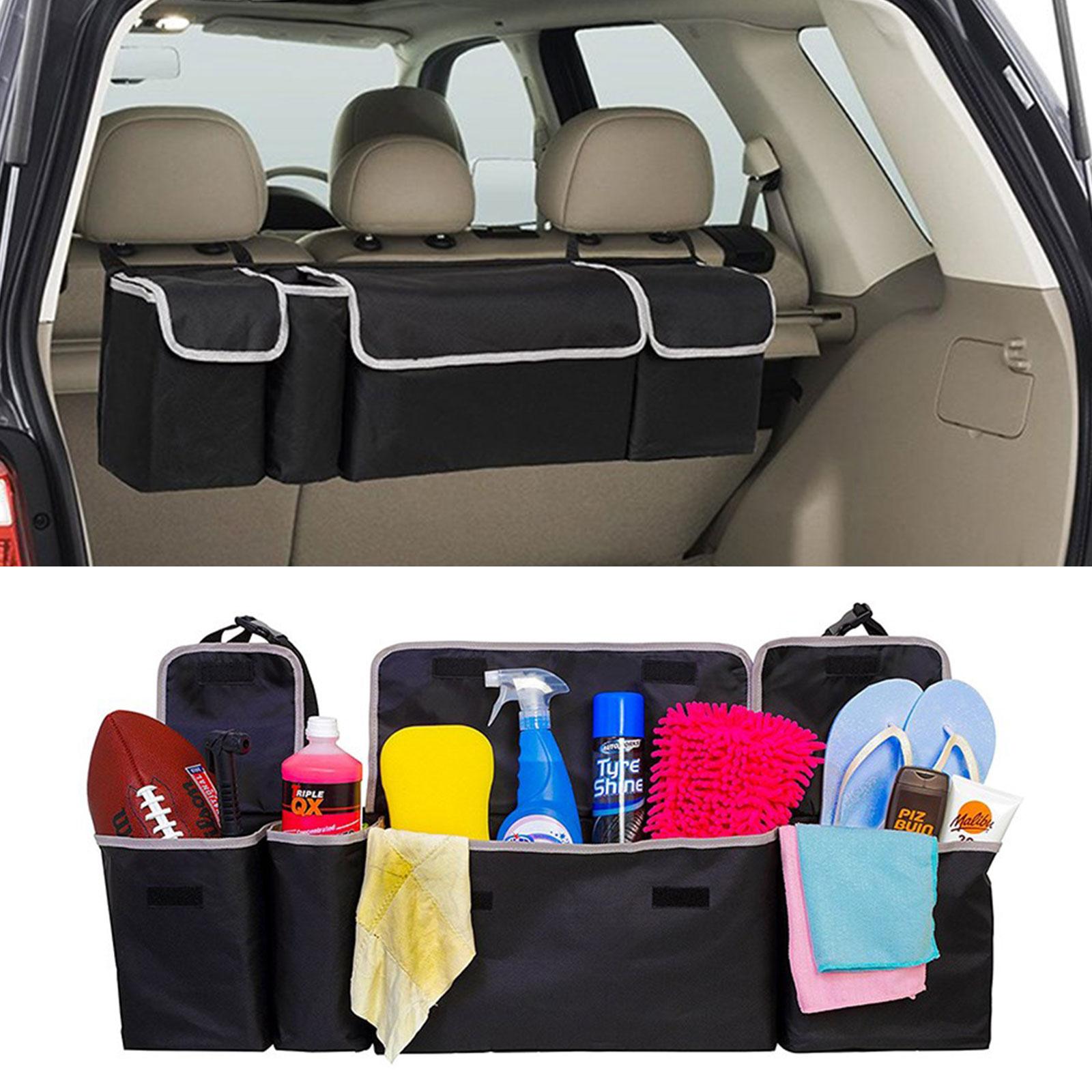 TSV 36x10x4.8 inch Black High Capacity Multi-use Car Seat Back Organizers Bag Interior Accessories For SUV, car, truck, jeep, mini van, vehicles