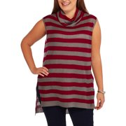 Concepts Women's Plus Cowl Neck Hi Lo Tunic Sweater