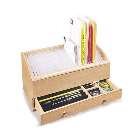 Wooden Personal Secretary Letter And Bill Organizer