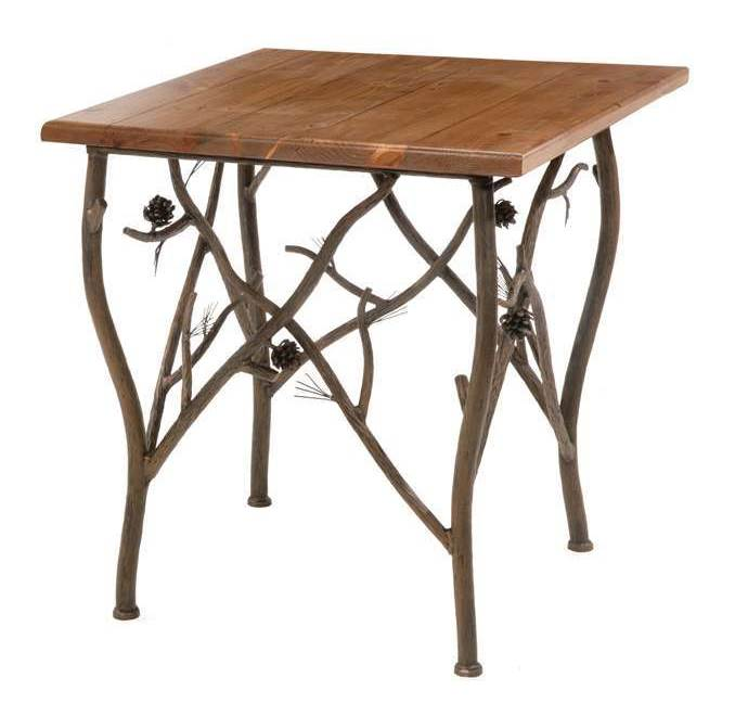 Side Table with Wood Tabletop (Distressed Pine)
