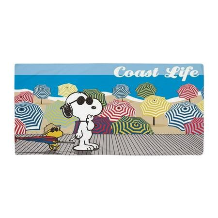 CafePress - Snoopy Coast Life - Large Beach Towel, Soft 30