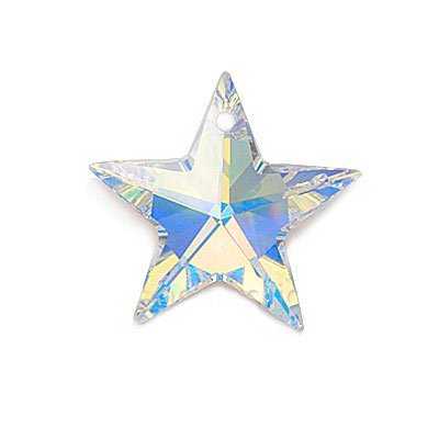 Swarovski Crystal, #6714 Star Pendant 20mm, 1 Piece, Crystal AB