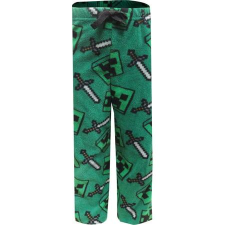 Minecraft Creeper Fleece Pajama Pants
