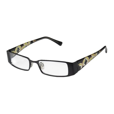 New D&a Adiva Dv21 Beyonce 1 Womens/Ladies Designer Full-Rim Black / Yellow / Clear Butterfly Print Hot Frame Demo Lenses 50-18-140 Eyeglasses/Eyeglass Frame