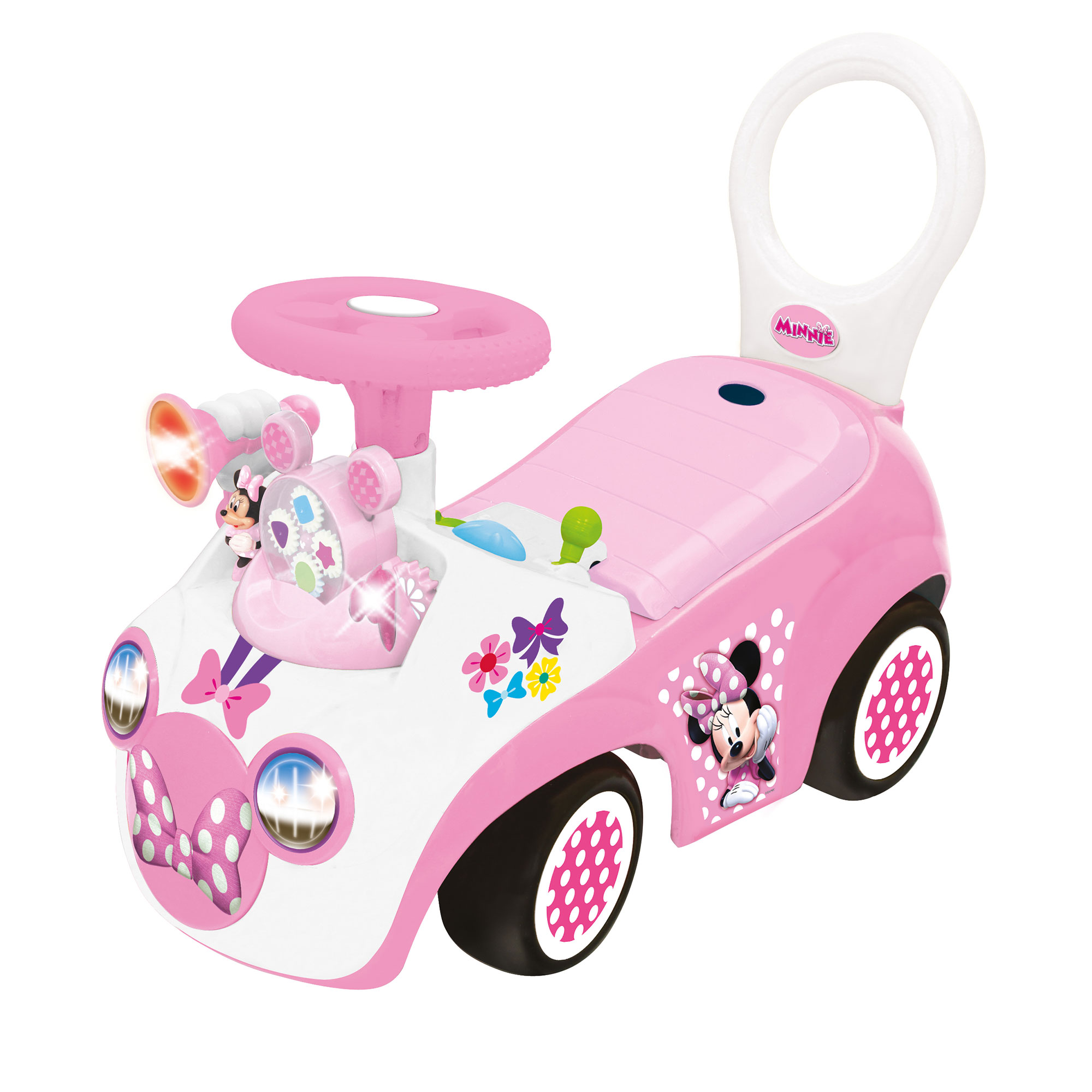 Kiddieland Minnie Mouse Activity Gears Interactive Ride On Push Car with Sounds