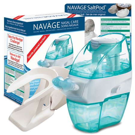 Navage Nasal Irrigation Starter Bundle  Navage Nose Cleaner  30 Saltpod Capsules  And Countertop Caddy   122 85 If Purchased Separately  You Save  22 90  19