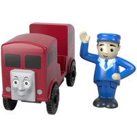 Thomas & Friends Wood Bertie the Red Bus with Poseable Figure
