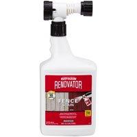Renovator 321637 Fence Stain, 56 oz, Liquid, Mild, 100 deg C, Redwood 4