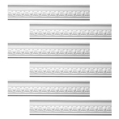 Ornate White Urethane Foam Emperial Cornice 6 Pieces Totaling 567 75