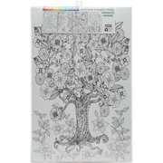 """Joy Of Coloring Adult Coloring Posters 11""""x17"""" 4/Pkg-Enchanted Garden"""
