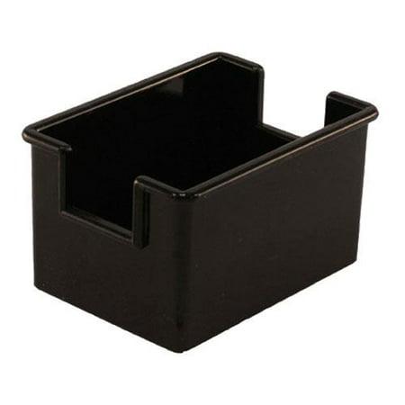 Winco - PPH-1K - Black Plastic Sugar Packet Holder