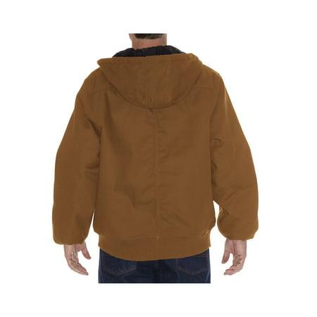 Dickies Men's Rigid Duck Hooded Jacket - Brown L