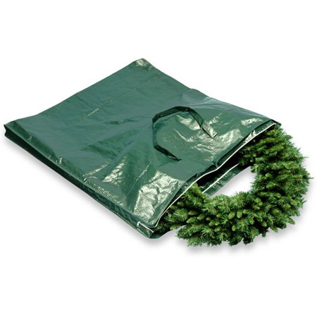National Tree Heavy-Duty Wreath and Garland Storage Bag with Handles and Zipper, Fits up to 4' Decorated Wreath ()