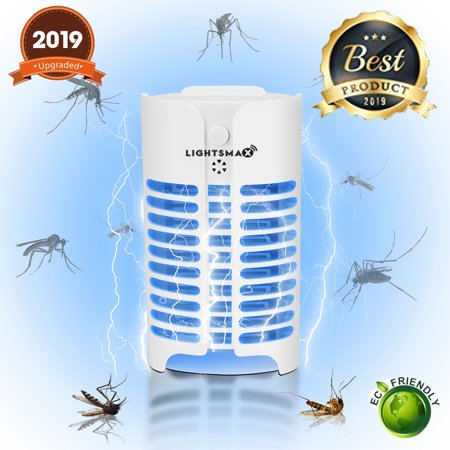 Indoor Insect Killer (2018 MOST POWERFUL LIGHTSMAX Indoor Insect Killer, Plug-in Bug Zapper Electric Mosquito Killer Lamp with Light Sensor - Perfect for Indoor Pest Control)