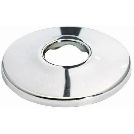 Slip Flange - Shallow Bath Flange, 0.5 in IPS Slip, Brass, Chrome Plated