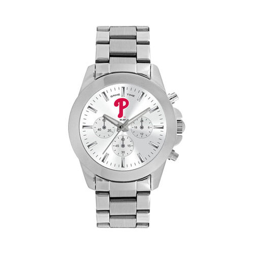 Gametime Women's Game Time Knockout Series MLB Philadelphia Phillies P Logo (One Size), stainless steel
