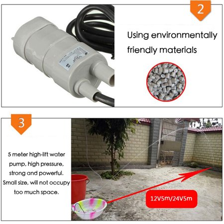 Compact Size 24V 600L/H High Pressure Submersible Water Pump Three-phase Micro Motor 5 Meter 10L/M High-lift Waterpump - image 5 of 5