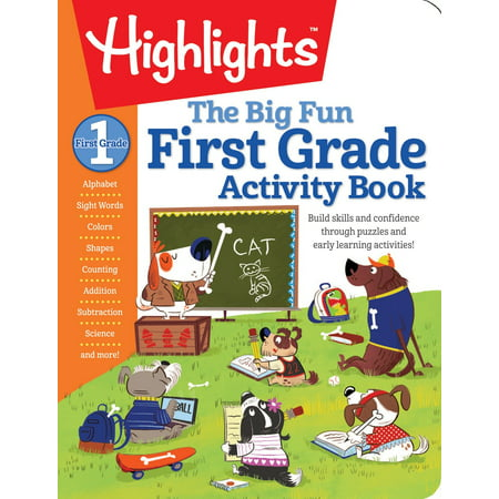 The Big Fun First Grade Activity Book (Paperback) (Halloween Activity For First Grade)
