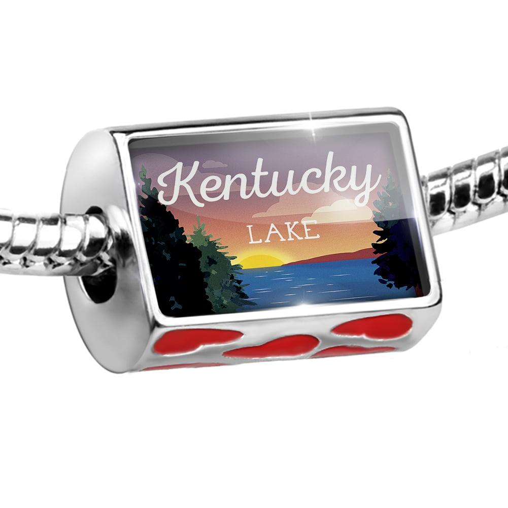 Bead Lake retro design Kentucky Lake Charm Fits All European Bracelets