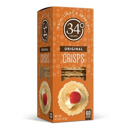 34 Degrees Crackers, Original Crisps, 4.5 oz