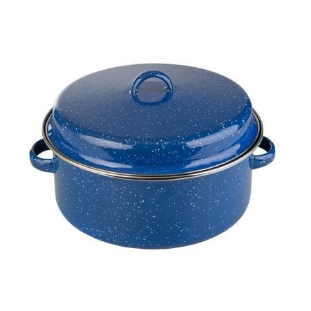 - Stansport Enamel Cook Pot With Lid - 5 QT