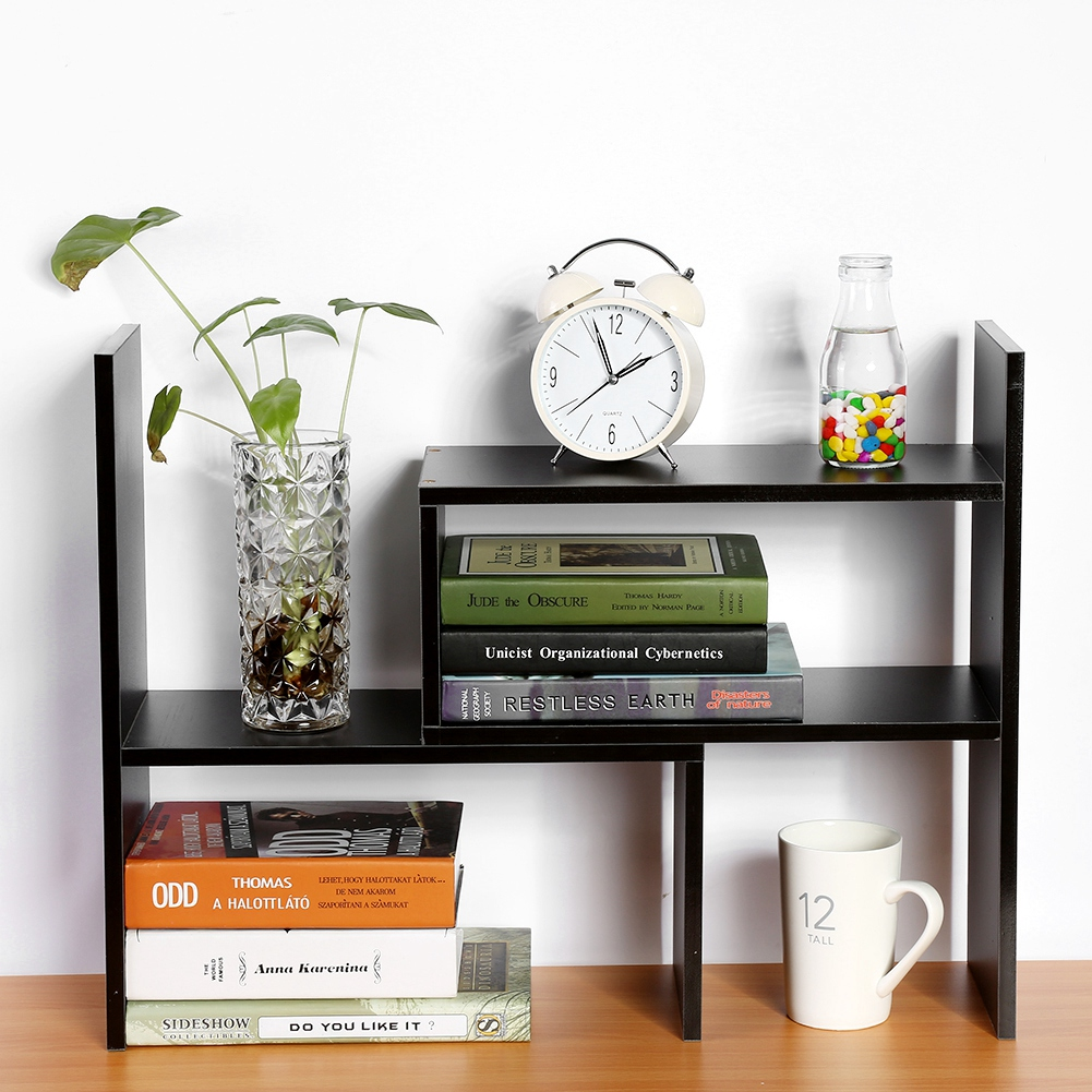 Zerone DIY Table Desktop Storage Rack Display Shelf Organizer Counter Top Fashion Active Bookcase Office Supply Magazine Book Holder Home Office Use