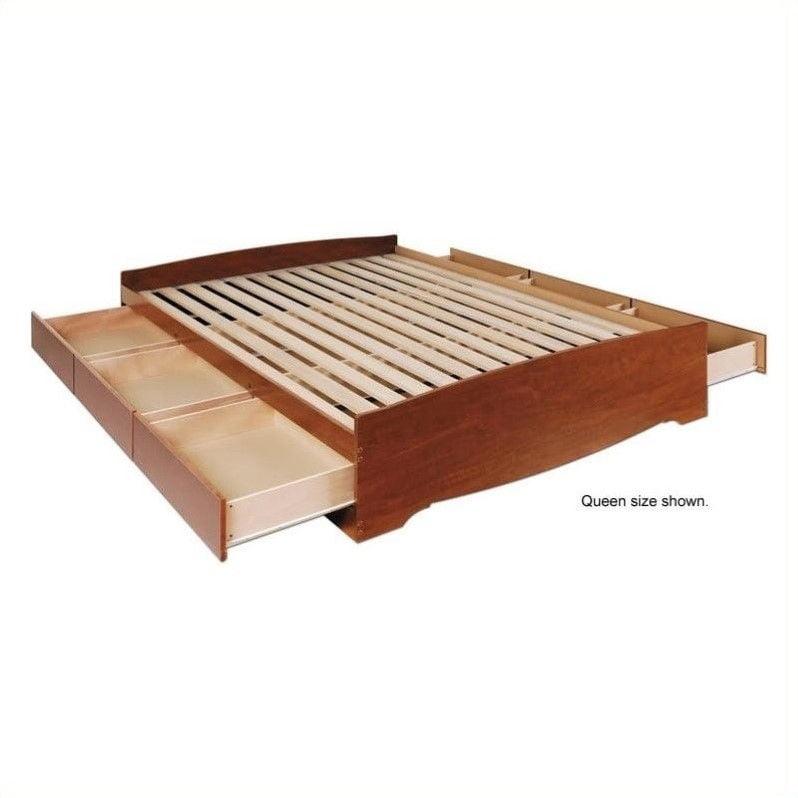 Prepac Monterey Cherry Double / Full Platform Storage Bed