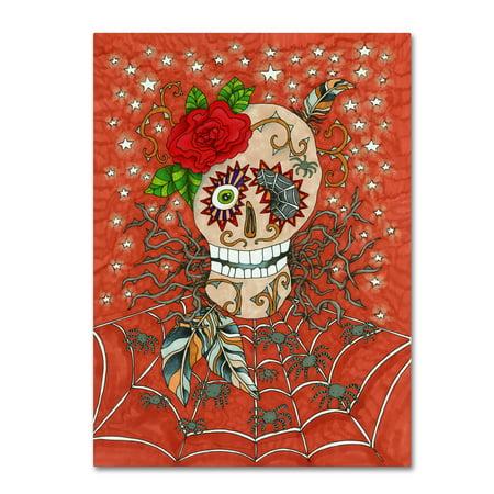 Trademark Fine Art 'Halloween Skull' Canvas Art by Kim Kosirog