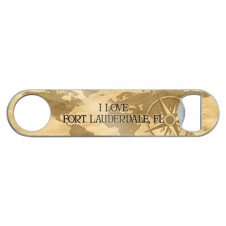 I Love Fort Lauderdale FL Stainless Steel Flat Speed Bar Bottle Opener ()