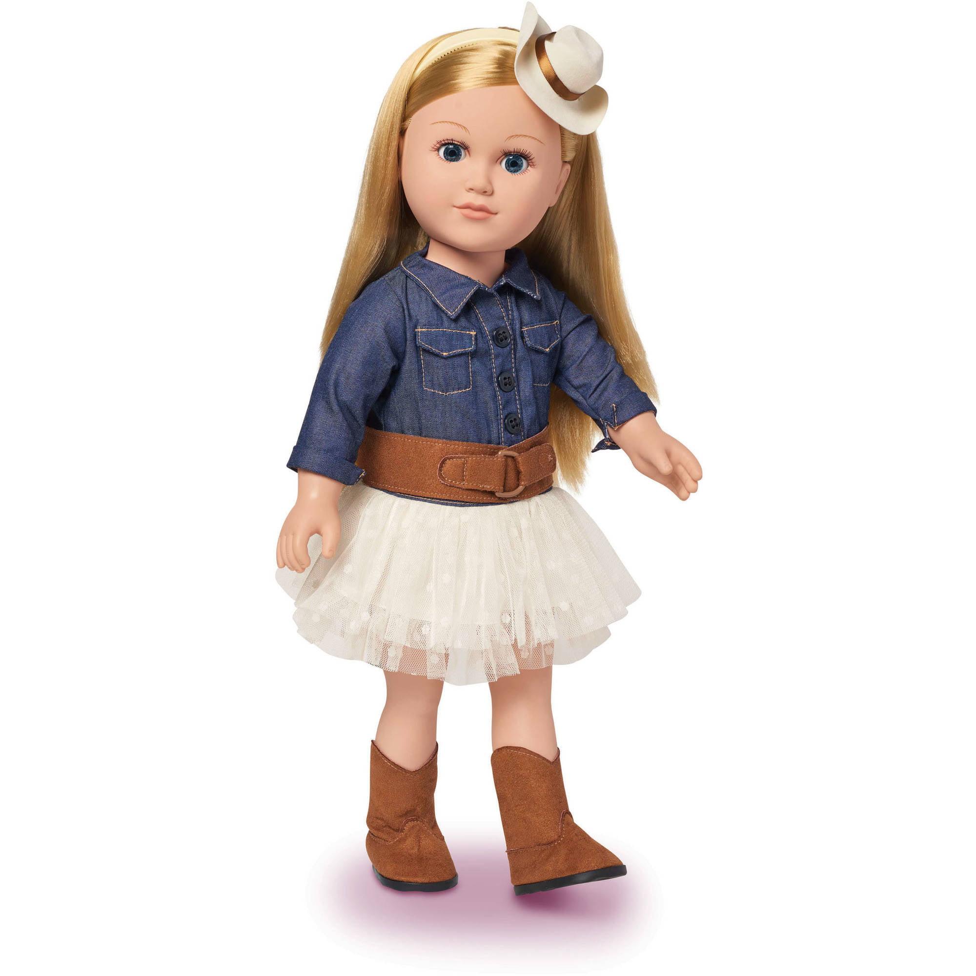 "My Life As 18"" Cowgirl Doll, Blonde - Walmart.com"