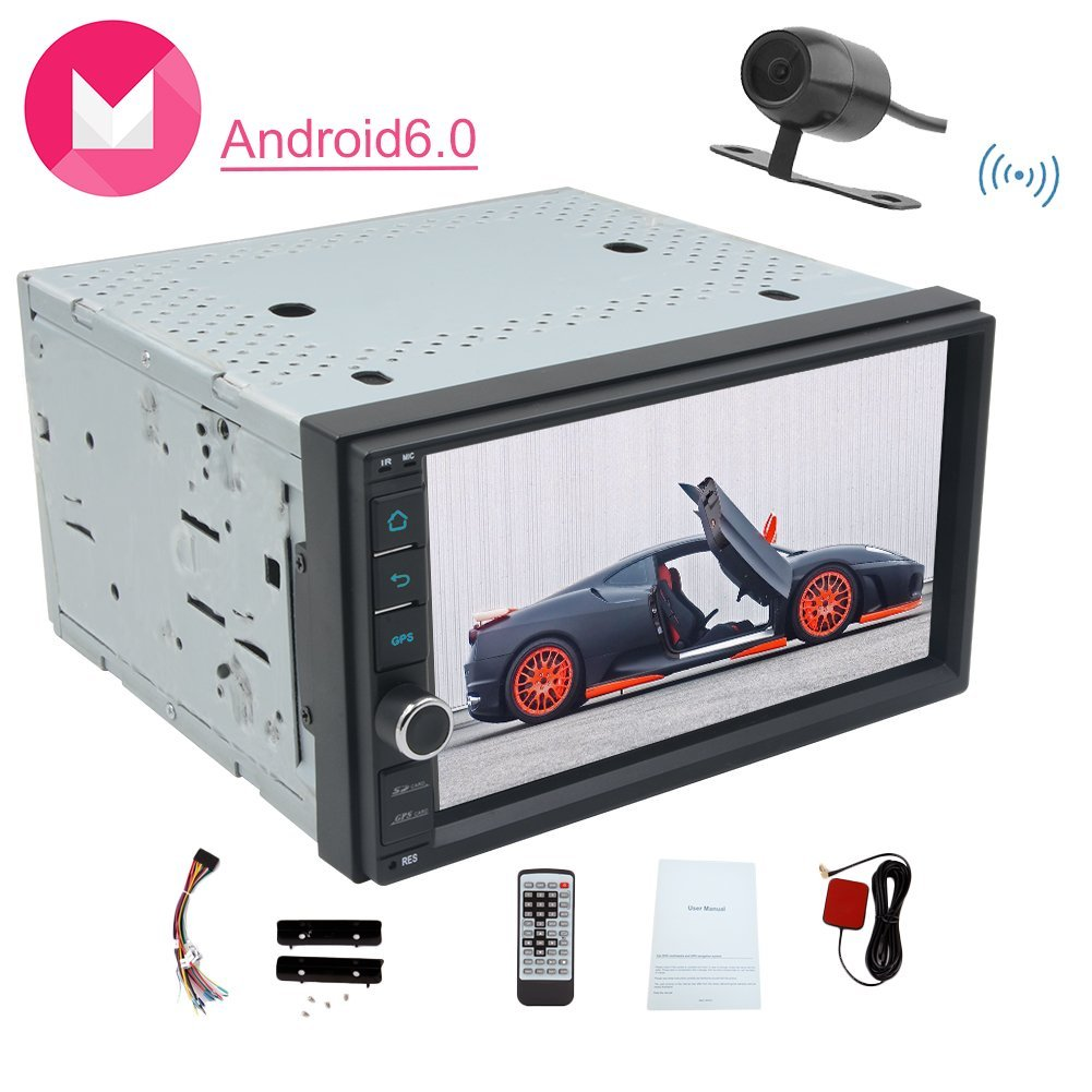 Wireless Rear Camera included Android6.0 Car Stereo with ...