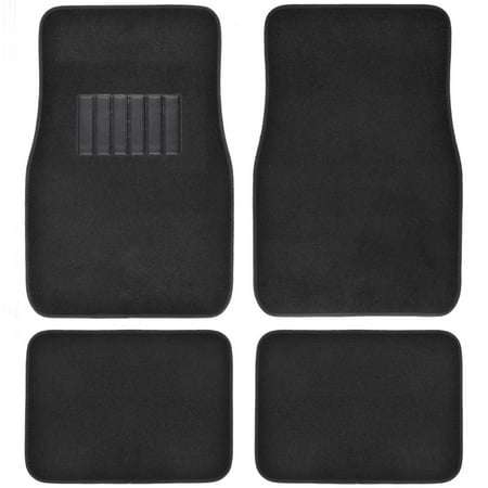 BDK Car Floor Mats 4 Pieces Carpet Protection - Universal Fit for Car, SUV, VA & Truck, Front & Rear Carpet Floor Mats Rear Wheel