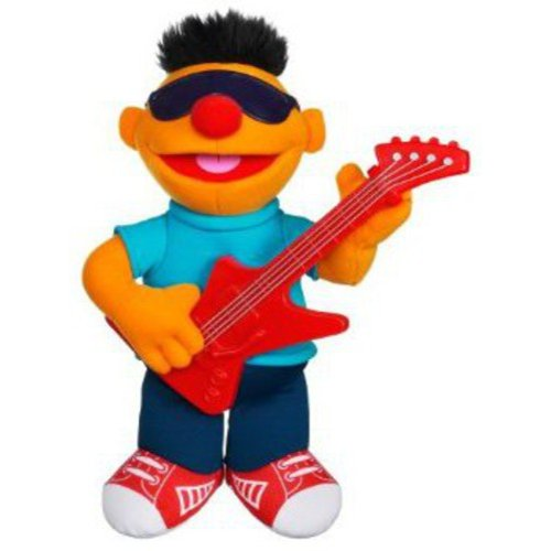 Playskool Sesame Street Strummin Ernie Plush Stuffed Animal Sings & Plays