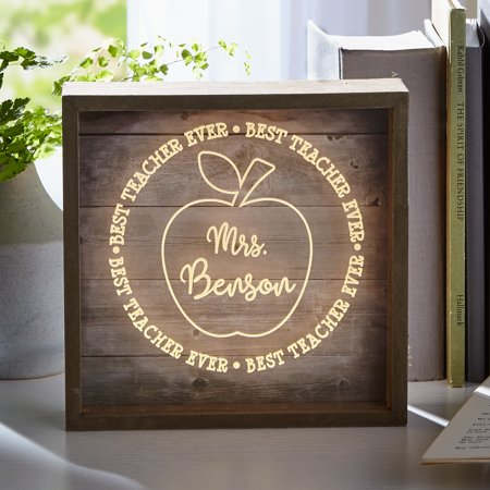 Personalized Best Teacher Ever Light Box